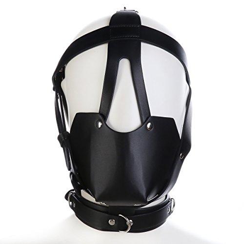 FeiGu Black Horse Leather Bondage Gimp Mask with Ball Gag T27
