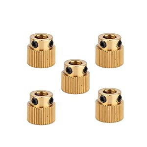 Creality 3D Printer Parts 5PCS Brass Extruder wheel 40 Teeth Drive Gear for CR-10 CR-10S S4 S5 by Creality 3D