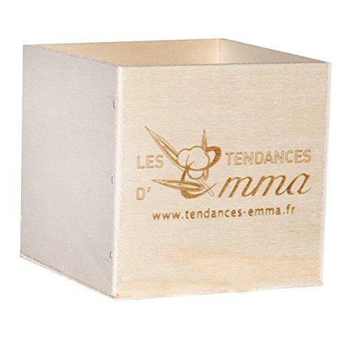 bambou /écru Les Tendances D Emma Kit 15 carr/és d/émaquillants