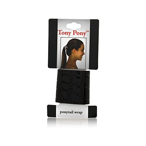 Mia Tony Pony-Stylish Ponytail Wrap/Cuff-Made of Embossed Crocodile Patent Leather With Velcro Closure-Chocolate Brown Color-1.75 Inches Wide (1 piece per card) (Leather Girls Prada Patent)