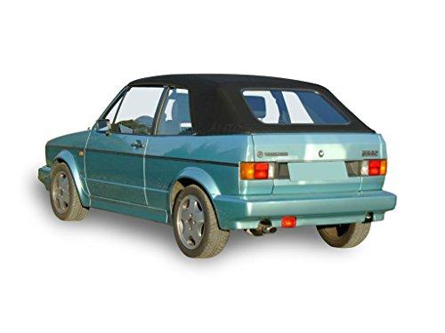 Volkswagen 1980-1984 Convertible Soft top White Vinyl Vw Volkswagen Rabbit Convertible