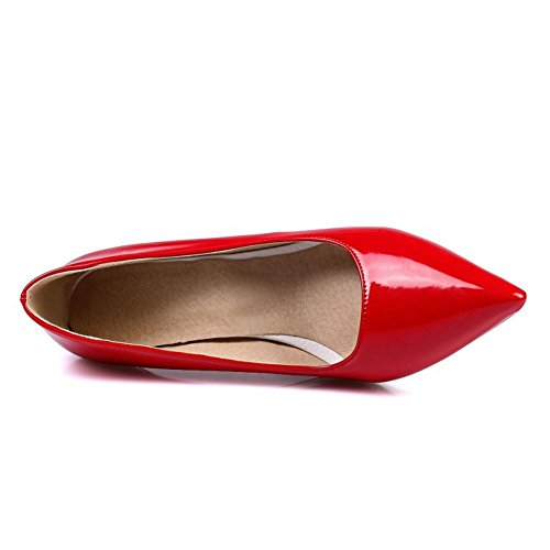 Mujer Heel Slip Colors 6CM Zanpa Formal Zapatos Red 6 Tacon On UPPSBq4
