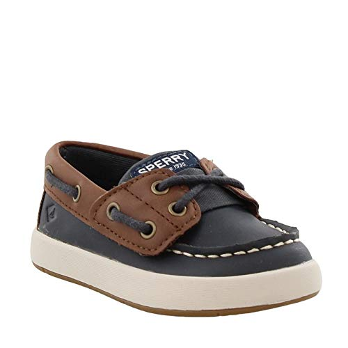 SPERRY Kids Baby Boy's Cruise Boat Jr (Toddler/Little Kid) Navy/Brown 9 M US Toddler by SPERRY