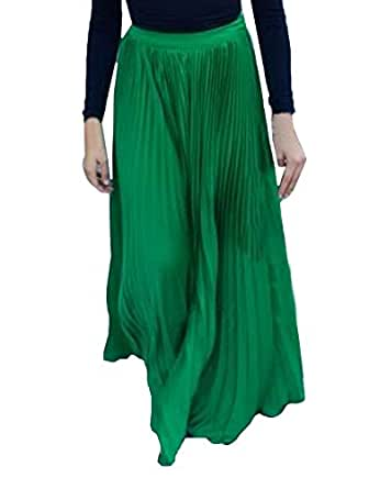 s plain formal pleated maxi skirt at women s