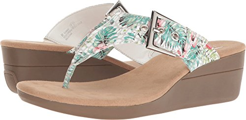Aerosoles Women's Flower White Floral 7 B US