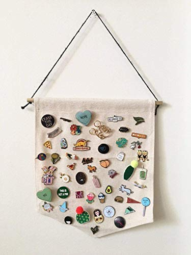 - Canvas Enamel Pin Display Banner