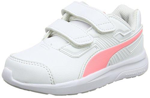 Puma escaper SL V PS, Zapatillas de Running Unisex Niños Blanco (Puma White-soft Fluo Peach-puma White)