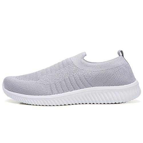 Women Sports Lazy Shoes - POHOK Women's Leisure Comfortable A Pedal Athletic Sneakers Shoes One Foot Shoes(40,Gray) ()