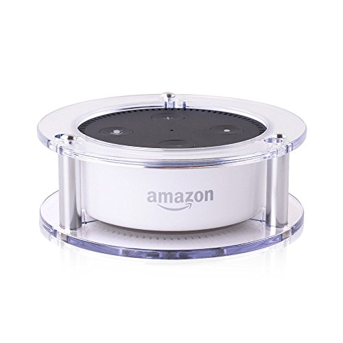 Price comparison product image Acrylic Ceiling Wall Mount for Amazon Echo Dot 2nd Generation Free 24-month Warranty OYOCO Speaker Stand Stable Guard Holder Free 24-month Warranty (Clear)