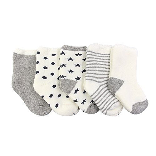 ehdching-unisex-baby-boys-girls-newborn-looped-pile-socks-pack-of-5-3-12-months-gray