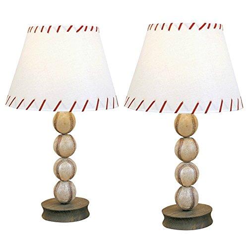 DEI Baseball Ball Sports Table Lamp Accent Desk Light (2 Pack)