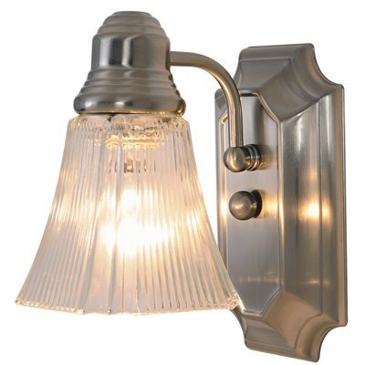 Monument 617093  Decorative Bathroom Wall Sconce, Brushed Nickel, 5-1/2 In. ()