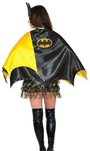 Bat Cape Costumes (Rubie's Women's Dc Comics Batgirl Deluxe 30-inch Cape, Black, One Size)