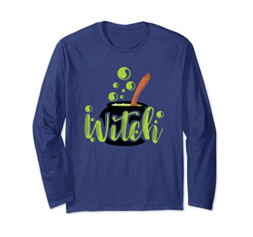 Halloween Witches Brew Graphic For Woman And Girls Long Sleeve T-Shirt -
