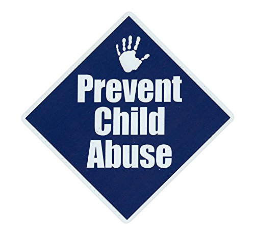 Magnetic Bumper Sticker - Prevent Child Abuse - Diamond Shaped Awareness Magnet - 5