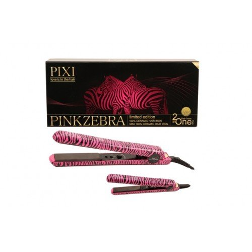Price comparison product image PIXI Pink Zebra 2 in One Hair Irons with bonus Clip