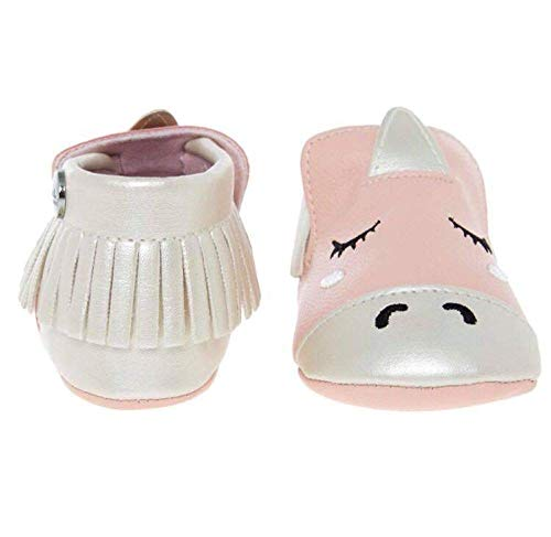 (Nicole Miller New York Infant Baby Boys/Girls Cartoon Character Anti-Ship Soft Sole Shoes - Pink 6-12 Months- White )