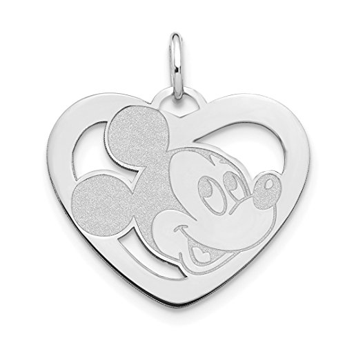 Personalized Disney Jewelry - ICE CARATS 14kt White Gold Disney Mickey Heart Pendant Charm Necklace Licensed Fine Jewelry Ideal Gifts For Women Gift Set From Heart