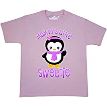 inktastic Mommys Little Sweetie-Cute Penguin In Scarf Youth T-Shirt