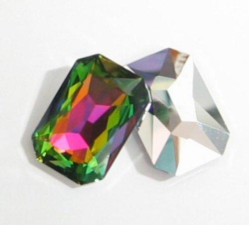 (1 pc Swarovski Crystal 4627 Octagon Cabochon Stone Bead Vitrail Medium Unfoiled 27mm X 18.5mm / Findings / Crystallized Element)