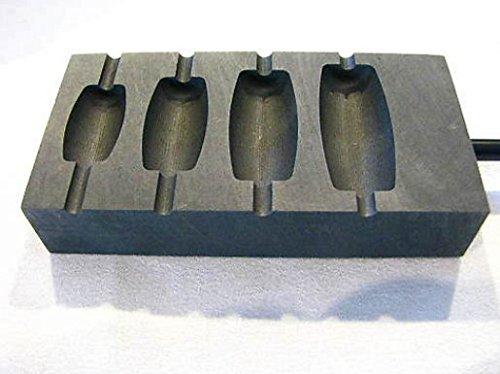 Devardi Glass 4 Slot Barrell Graphite Marver, Lampwork,