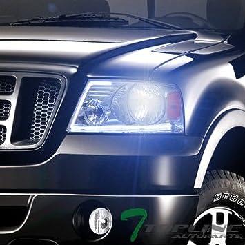 Topline autopart * lúmenes de Optics * DRL LED de techo cromado cabezal de luces + 8000 K HID Bi-Xenon 2004 + FORD F150: Amazon.es: Coche y moto