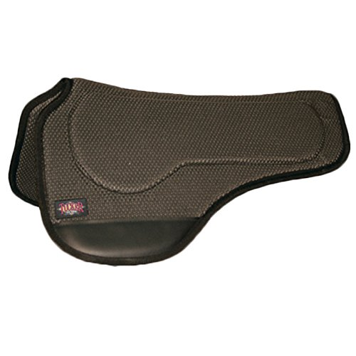 HorseSaddleShop Tucker Dropped Rigging Round Tacky Saddle Pad 3630BK Black, 30 inches