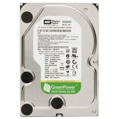 WSTRN DIG Drive SATA300 2TB 64MB 54RPM Green AV-GP 64 MB Buffer 3.5