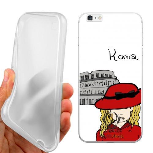 CUSTODIA COVER CASE CASEONE WOMAN IN LOVE ROMA PER IPHONE 6 PLUS
