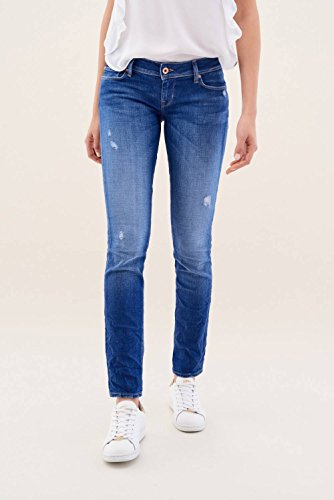 Azul Salsa Denim Intenso Pantalones Azul Up Shape Slim pqpOrx
