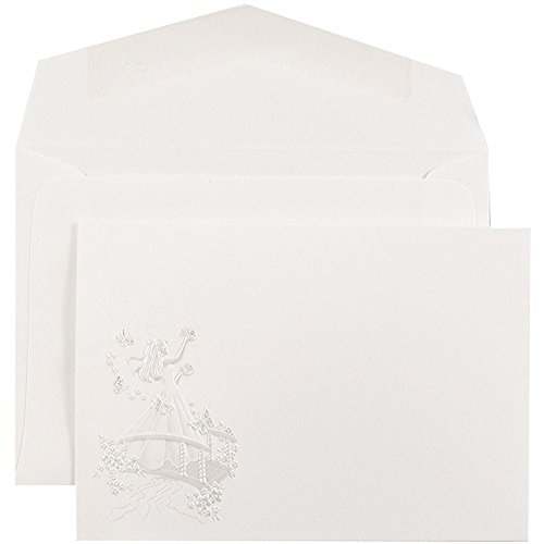 JAM Paper® Quinceañera Invitation Sets - White with Pink Butterfly Princess Design, White Envelopes - Small - 4.875
