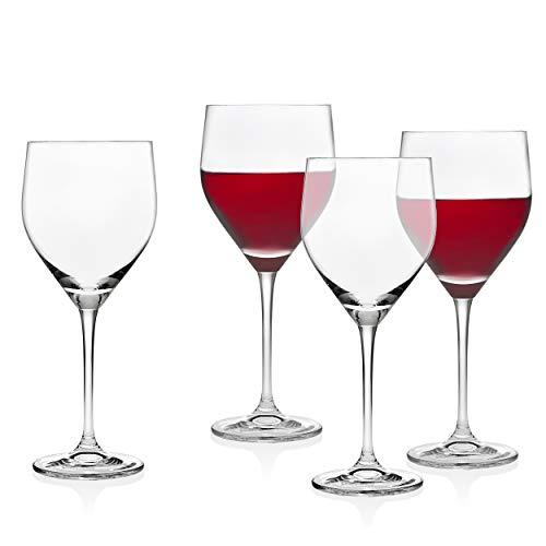 Godinger Wine Glasses Goblets, Stemmed Beverage Cup - European Made - 16oz, Set of 4