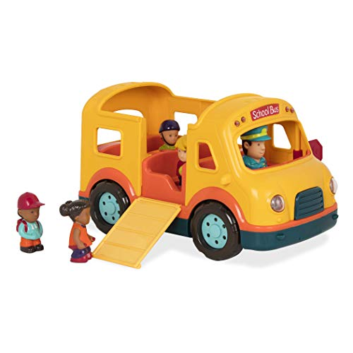 Battat - Light & Sound School Bus - School Bus Toy Vehicle for Toddlers 18 Months + (6Pc)