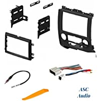 ASC Audio Car Stereo Radio Install Dash Kit, Wire Harness, and Antenna Adapter to Add a Double Din Radio for 2008 - 2012 Ford Escape, 2008 - 2011 Mazda Tribute, 2008 - 2011 Mercury Mariner