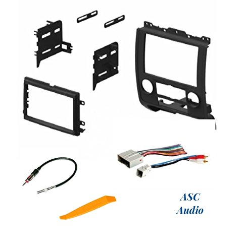 ASC Audio Car Stereo Radio Install Dash Kit, Wire Harness, and Antenna Adapter to Add a Double Din Radio for 2008 - 2012 Ford Escape, 2008 - 2011 Mazda Tribute, 2008 - 2011 Mercury Mariner ()