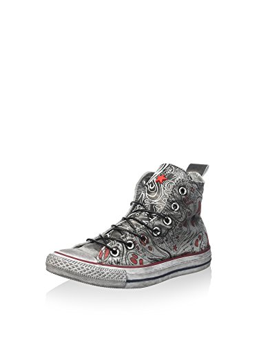 Converse Sneaker Alta All Star Hi Grigio/Rosso EU 36 (US 3.5)