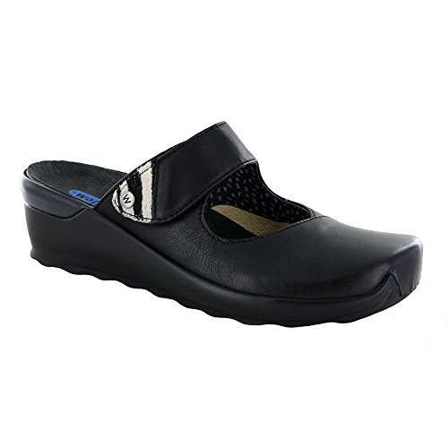 Valvet Comfort Black Leather Wolky Up Clogs wSqdnBxI