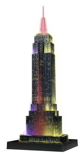 Ravensburger Empire State Building - Night Edition - 216 Piece 3D Jigsaw Puzzle for Kids and Adults - Easy Click Technology Means Pieces Fit Together Perfectly ()