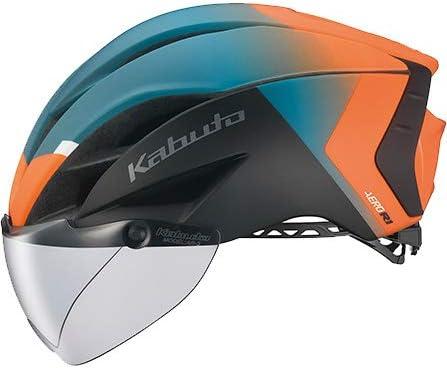 OGK KABUTO(オージーケーカブト) ヘルメット AERO-R1 (エアロ-R1) カラー:G-2マットオレンジグリーン サイズ:XS/S(頭囲:54~56cm)