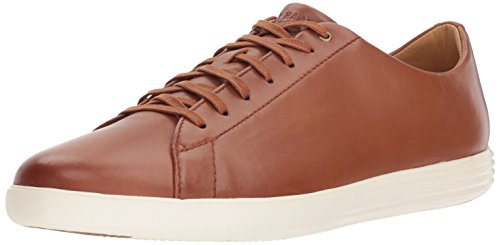 Cole Haan Men's Grand Crosscourt II Sneaker, tan leather burnished, 7 Medium US