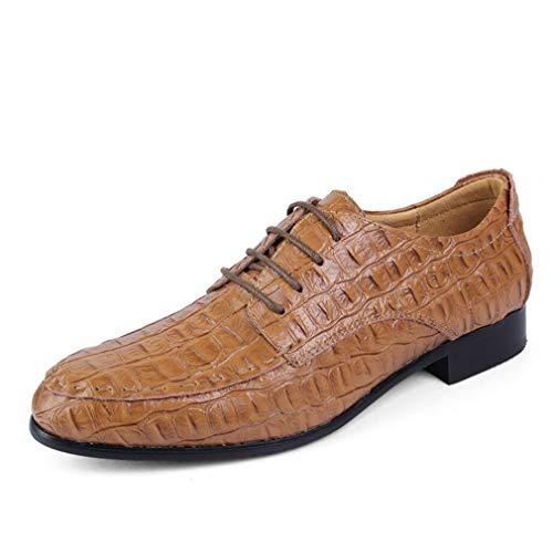 Negocios de Zapatos y Vestido de Carrera de Formales Zapatos Oficina Zapatos Primavera Zapatos Do Hombre Aumentar Punta Cuero con Moda Cordones de y de otoño de YAN wItwg