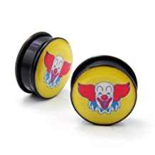 AP-511 Clown Design Single Flare O Ring Solid Ear Plugs Gauges Solid Tunnel 3mm