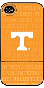 Coveroo University of Tennessee Volunteers Full design on a Black iPhone 4/4S Slider Case