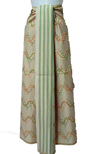 Thai Myanmar Synthetic Silk Fabric Mandalay MT30 for women Skirt Dress MF22 (Skirt Mandalay)