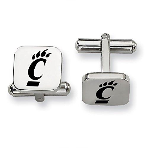 Cincinnati Bearcats Stainless Steel Square Cufflinks