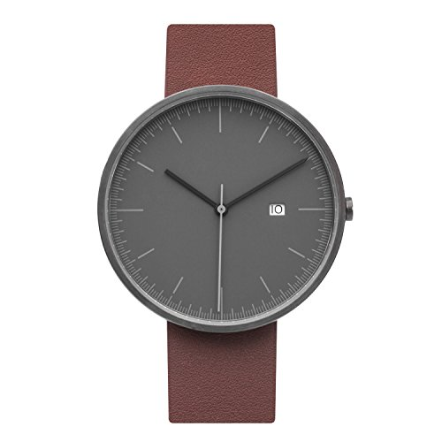 BIJOUONE-B202-Minimalist-Mens-Grey-Dial-Stainless-Steel-Swiss-Quartz-Analog-Calendar-Brown-Leather-Watch