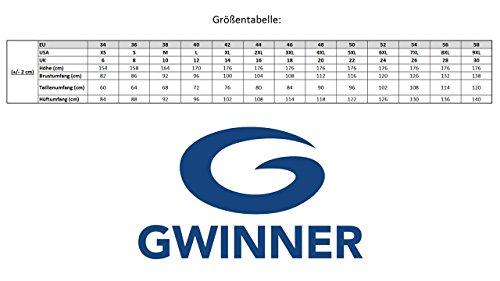 Gwinner Herren Badeshorts Badehose Schwimmhose Schwimmshorts mit Bindeschnur und Taschen, Modell Adi, made in EU blau, 4XL