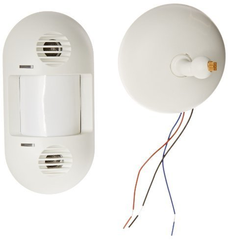 Hubbell ATD1600W Wall/Ceiling Mount Sensor, White, 1600sqft Max Sensing Range by Hubbell