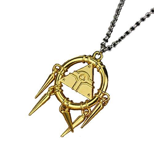 Moniku Yu-Gi-Oh Millenium Ring Millennium Yugioh Necklace Cosplay Accessories (Gold)