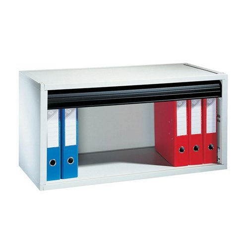 Fast Paperflow Tambour Door Desktop Storage Cabinet Black...
